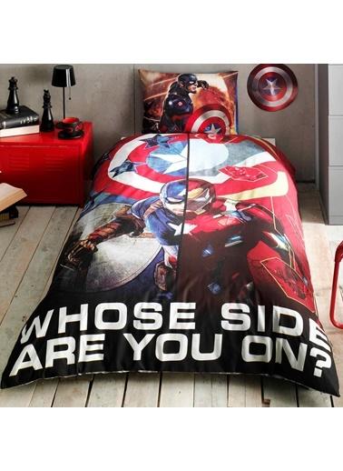 Lisanslı Captain America Movie Tek Kişilik Nevresim Takımı-TAÇ